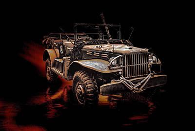 Ww11 Digital Art - Ww11 Usa Army Jeep by Thanet Photos