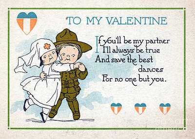 February 14th Photograph - Wwi, For No One But You, Valentine by Science Source