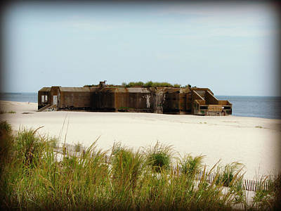 Wwii Bunker Print by Brenda Conrad