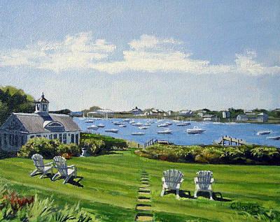 Chatham Harbor Painting - Wychmere Harbor Harwich Port Massachusetts Cape Cod Massachusetts by Christine Hopkins
