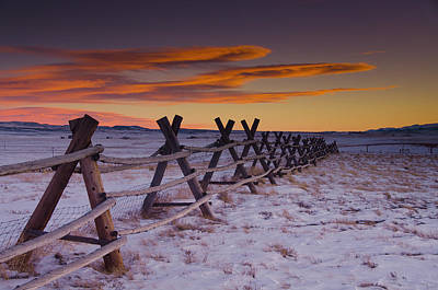 Winter Sunset Photograph - Wyoming Apocalypse by Aaron S Bedell