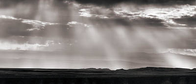 Wyoming Cloud Light Panoramic Print by Leland D Howard
