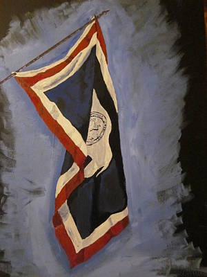 44th Painting - Wyoming State Flag by Chris Cooper