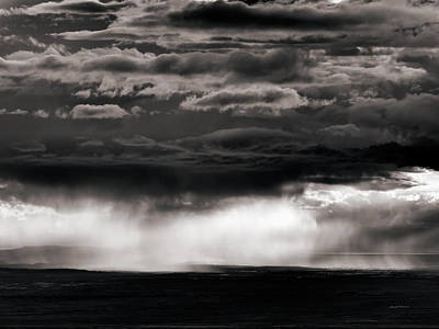 Wyoming Storm Light Print by Leland D Howard