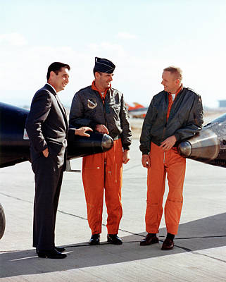 Neil Armstrong Neil Armstrong Photograph - X-15 Aircraft Test Pilots by Nasa