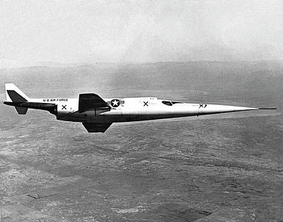 High Speed Photograph - X-3 Stiletto Experimental Aircraft by Nasa Photo / Naca/nasa