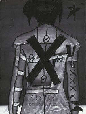 Banksy Drawing - X Back Pop Graffiti by Edward X