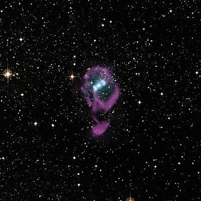 X-ray Image Photograph - X-ray Binary Stars by Nasa/cxc/univ. Of Wisconsin