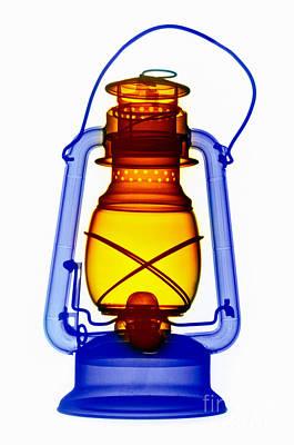 X-ray Of A Kerosene Lantern Print by Scott Camazine