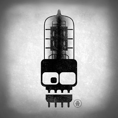 Listening Digital Art - X-ray Tubeskull by Milton Thompson