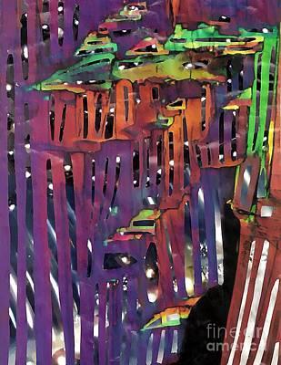 Avant Garde Mixed Media - Xanadu Ice Caverns by Sarah Loft