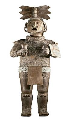 Precolumbian Photograph - Xipe Totec. 500-650. Clay Sculpture by Everett