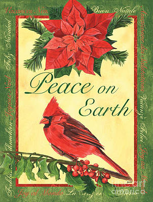 Peace On Earth Painting - Xmas Around The World 1 by Debbie DeWitt