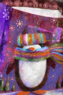 Xmas Penguin 01 Photo Art Print by Thomas Woolworth