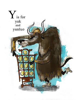 Yak Painting - Y Is For Yak by Sean Hagan