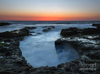 Yachats Sunset Print by Mike  Dawson