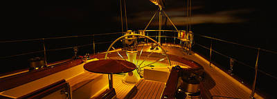 Cockpit Photograph - Yacht Cockpit At Night, Caribbean by Panoramic Images