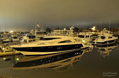 Yacht  Print by Gandz Photography