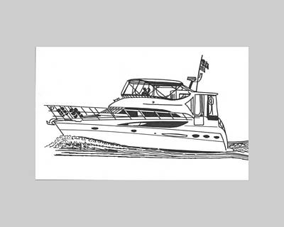Watersports Drawing - Yachting Good Times by Jack Pumphrey