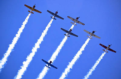 Yak 52 Formation Print by Phil 'motography' Clark