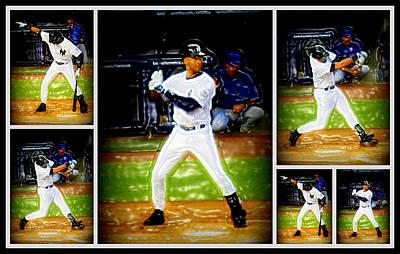 Yankee Stadium Digital Art - Yankee Captain Derek Jeter by Aurelio Zucco