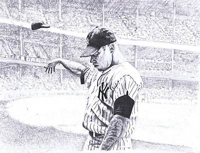 Yankee Stadium Drawing - Yankee Forever by Paul Smutylo