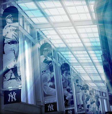 Mickey Mantle Digital Art - Yankee Immortals by Aurelio Zucco