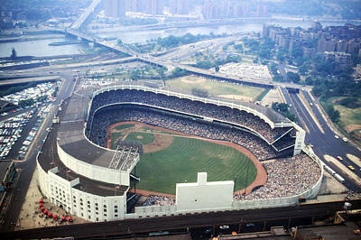 Old Yankee Photograph - Yankee Stadium Aerial by Retro Images Archive
