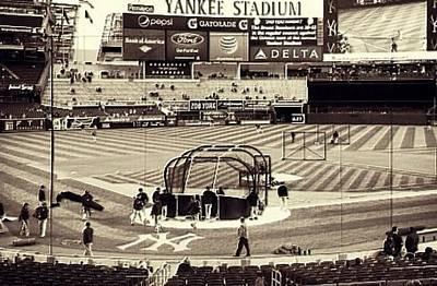 Yankee Stadium Mixed Media - Yankee Stadium by CD Kirven