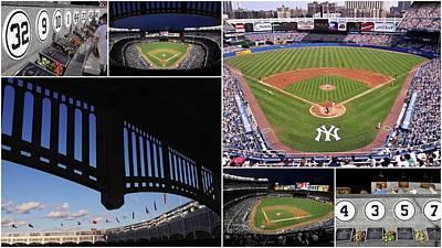 Yankee Stadium Collage 3 Print by Allen Beatty