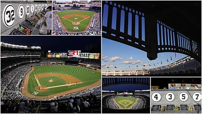 Old Yankee Photograph - Yankee Stadium Collage by Allen Beatty