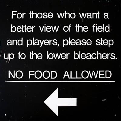 Yankee Stadium Digital Art - Yankee Stadium Lower Bleachers Sign by Bill Cannon