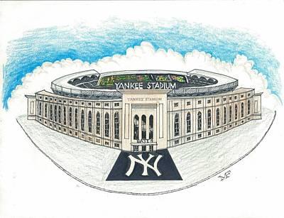 Yankee Stadium Mixed Media - Yankee Stadium by Marty Fuller