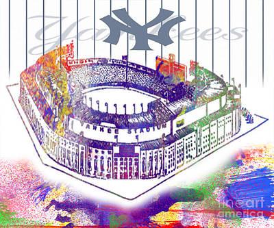 Yankee Stadium Digital Art - Yankee Stadium by Victor Arriaga