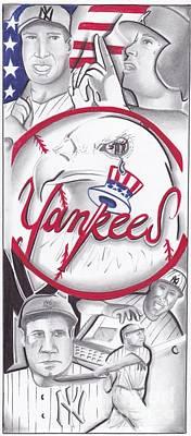 Jeter Drawing - Yankees Best by Tasha Clarke