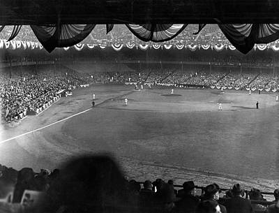 Yankee Stadium Photograph - Yankees Defeat Giants by Underwood Archives