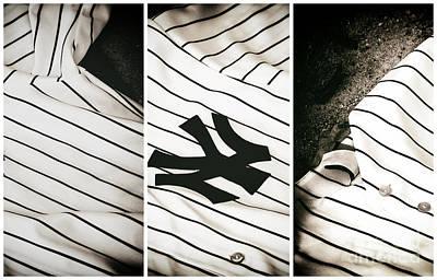 Yankees Panels Print by John Rizzuto