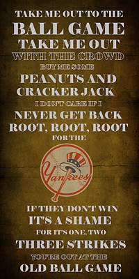 Yankees Peanuts And Cracker Jack  Print by Movie Poster Prints