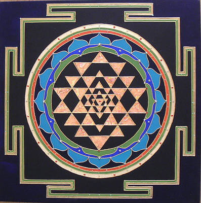 Sri Yantra Painting - Yantra by Heart Art