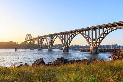 Photograph - Yaquina Bay Bridge Sunset by C Steele