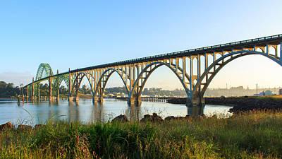 Photograph - Yaquina Bay Bridge Morning by C Steele