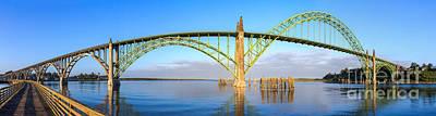 Photograph - Yaquina Bay Bridge Fisheye by C Steele