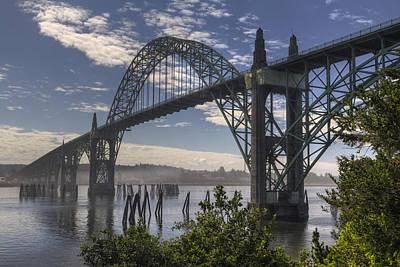 Gothic Bridge Photograph - Yaquina Bay Bridge by Mark Kiver