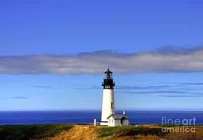 Yaquina Head Lighthouse Photograph - Yaquina Head Light   2 by Mel Steinhauer