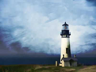 Sentry Photograph - Yaquina Head Light by Carol Leigh
