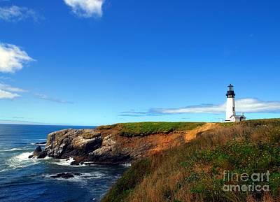 Yaquina Head Lighthouse Photograph - Yaquina Head Light by Mel Steinhauer