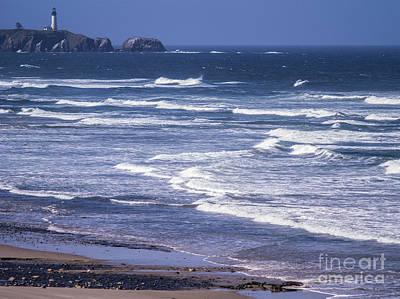 Agate Beach Oregon Photograph - Yaquina Head Lighthouse  by Tracy Knauer