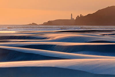 Agate Beach Oregon Photograph - Yaquina Head Swirling Sands by Katherine Gendreau