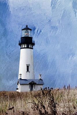Yaquina Lighthouse Print by Elena Nosyreva