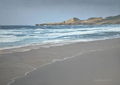 Yaquina Lighthouse Print by Peter Mathios